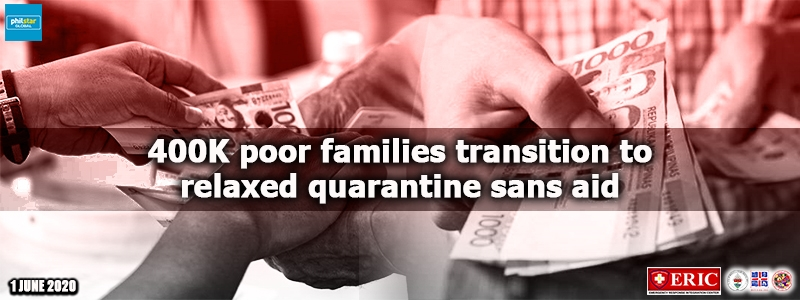400K poor families transition to relaxed quarantine sans aid