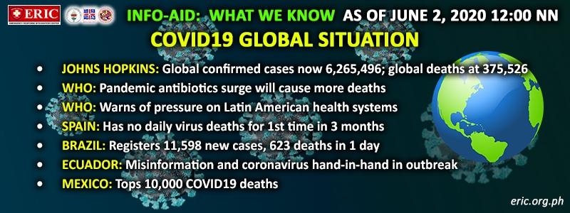 COVID19 INFO-AID LATEST NEWS AND DEVELOPMENTS AROUND THE WORLD