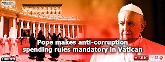 Pope makes anti-corruption spending rules mandatory in Vatican