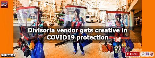 Divisoria vendor gets creative in COVID-19 protection