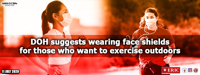 DOH suggests wearing face shields for those who want to exercise outdoors