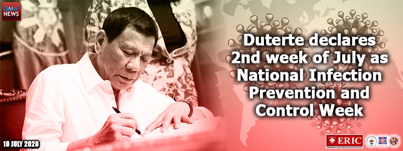 Duterte declares 2nd week of July as National Infection Prevention and Control Week