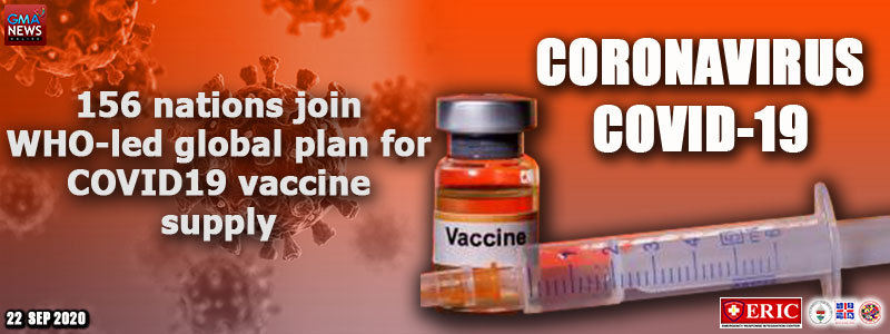156 nations join WHO-led global plan for COVID-19 vaccine supply