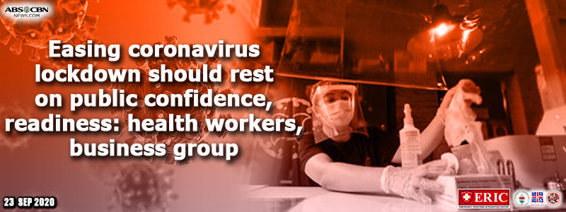 Easing coronavirus lockdown should rest on public confidence, readiness: health workers, business group