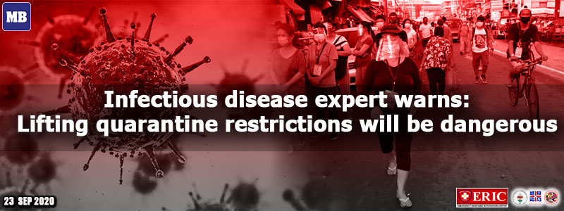 Infectious disease expert warns: Lifting quarantine restrictions will be dangerous