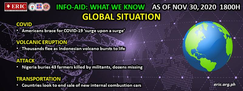 INFO-AID WHAT WE KNOW GLOBAL SITUATION AS OF 30 NOVEMBER 2020, 1800H