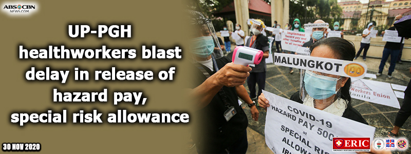 UP-PGH healthworkers blast delay in release of hazard pay, special risk allowance