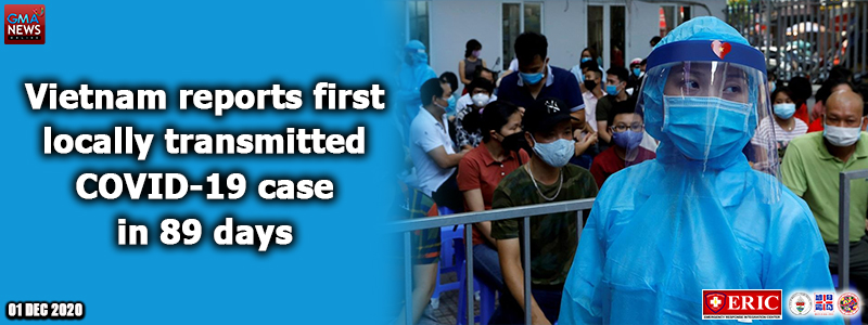 Vietnam reports first locally transmitted COVID-19 case in 89 days