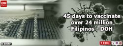 45 days to vaccinate over 24 million Filipinos – DOH