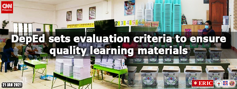 DepEd sets evaluation criteria to ensure quality learning materials
