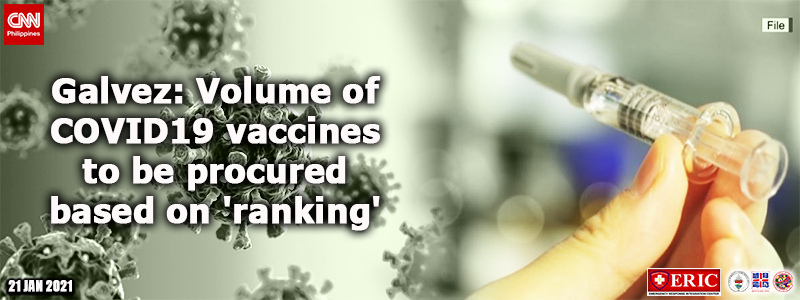 Galvez: Volume of COVID-19 vaccines to be procured based on 'ranking'