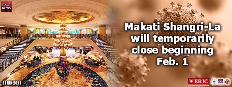 Makati Shangri-La will temporarily close beginning Feb. 1