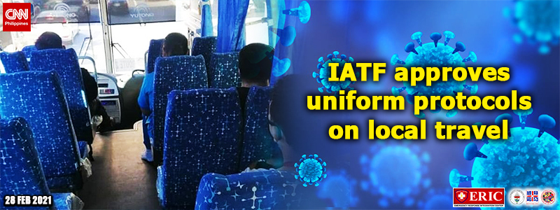 IATF approves uniform protocols on local travel