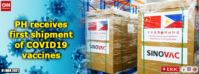 PH receives first shipment of COVID-19 vaccines