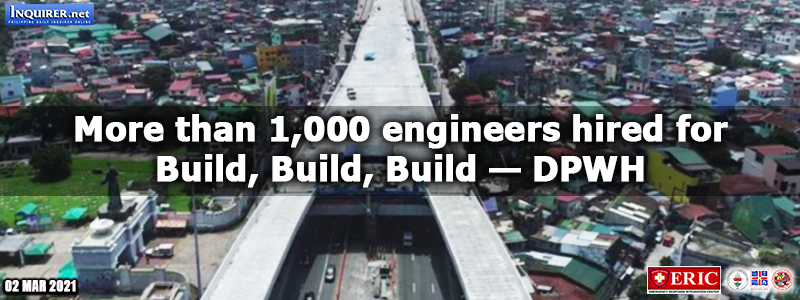 More than 1,000 engineers hired for Build, Build, Build — DPWH