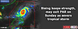 Bising keeps strength, may exit PAR on Sunday as severe tropical storm