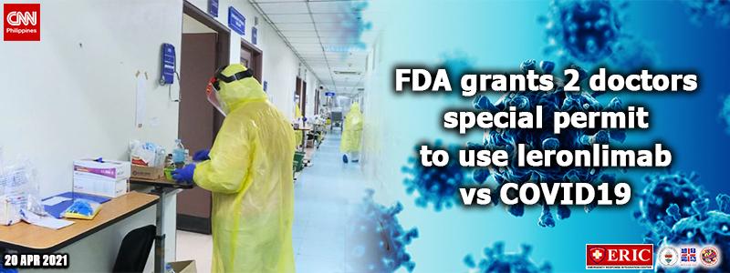 FDA grants 2 doctors special permit to use leronlimab vs COVID-19