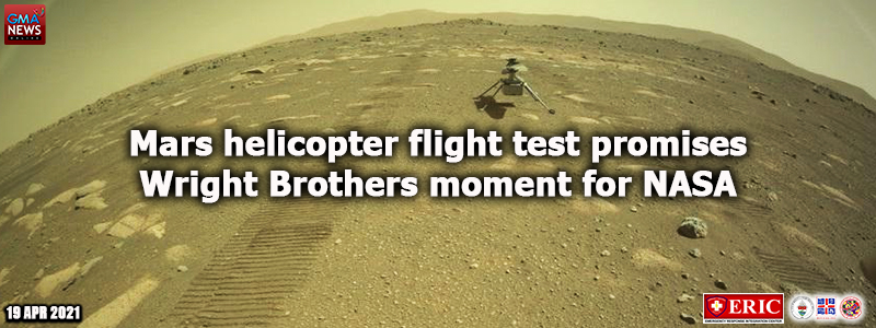Mars helicopter flight test promises Wright Brothers moment for NASA