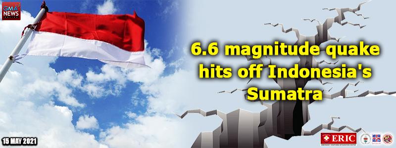 6.6 magnitude quake hits off Indonesia's Sumatra —USGS
