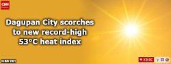 Dagupan City scorches to new record-high 53°C heat index