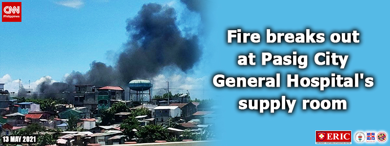 Fire breaks out at Pasig City General Hospital's storage area — BFP