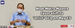 Most Metro Mayors favor shift to 'strict' GCQ on May 15