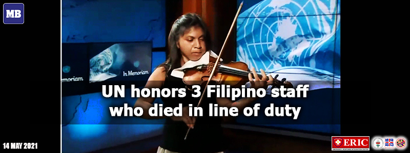 UN honors 3 Filipino staff who died in line of duty
