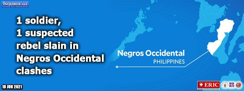 1 soldier, 1 suspected rebel slain in Negros Occidental clashes