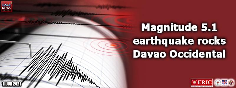 Magnitude 5.1 earthquake rocks Davao Occidental