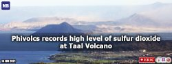 Phivolcs records high level of sulfur dioxide at Taal Volcano