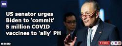 US senator urges Biden to 'commit' 5 million COVID vaccines to 'ally' PH