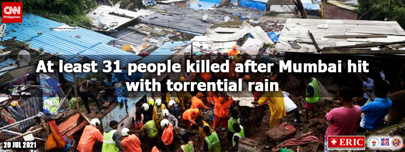 At least 31 people killed after Mumbai hit with torrential rain