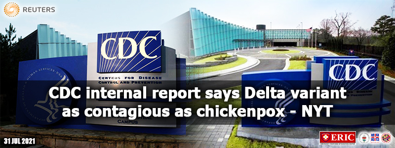 CDC internal report says Delta variant as contagious as chickenpox – NYT