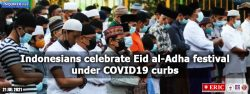 Indonesians celebrate Eid al-Adha festival under COVID-19 curbs