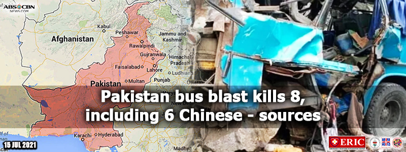 Pakistan bus blast kills 8, including 6 Chinese – sources