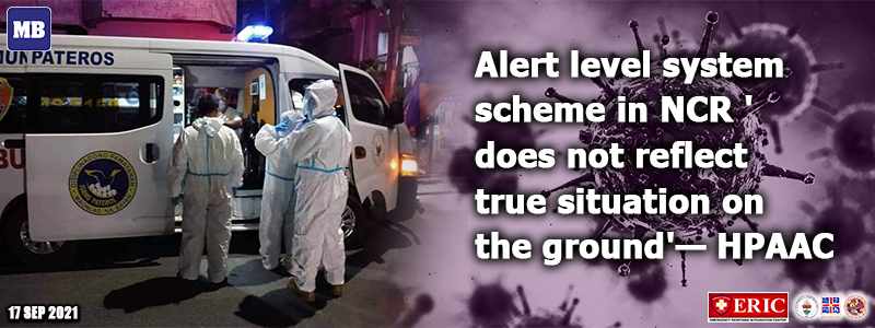 Alert level system scheme in NCR 'does not reflect true situation on the ground'—HPAAC