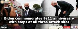 Biden commemorates 9/11 anniversary with stops at all three attack sites