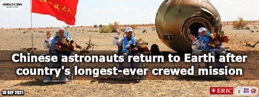 Chinese astronauts return to Earth after country's longest-ever crewed mission