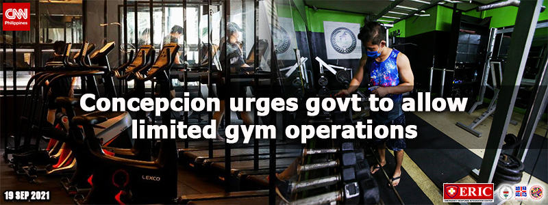 Concepcion urges govt to allow limited gym operations