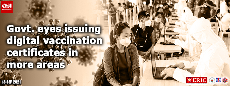 Govt. eyes issuing digital vaccination certificates in more areas