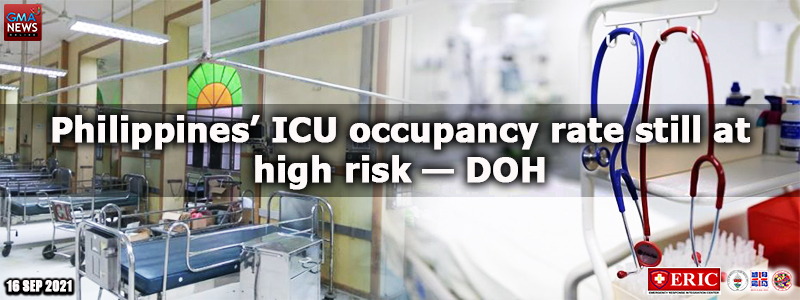 Philippines' ICU occupancy rate still at high risk — DOH