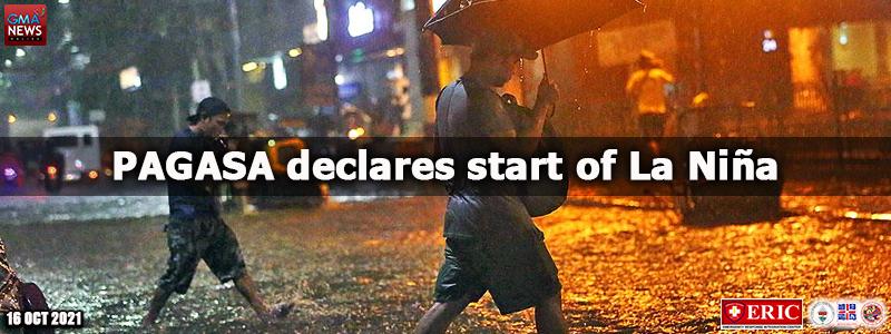 PAGASA declares start of La Niña
